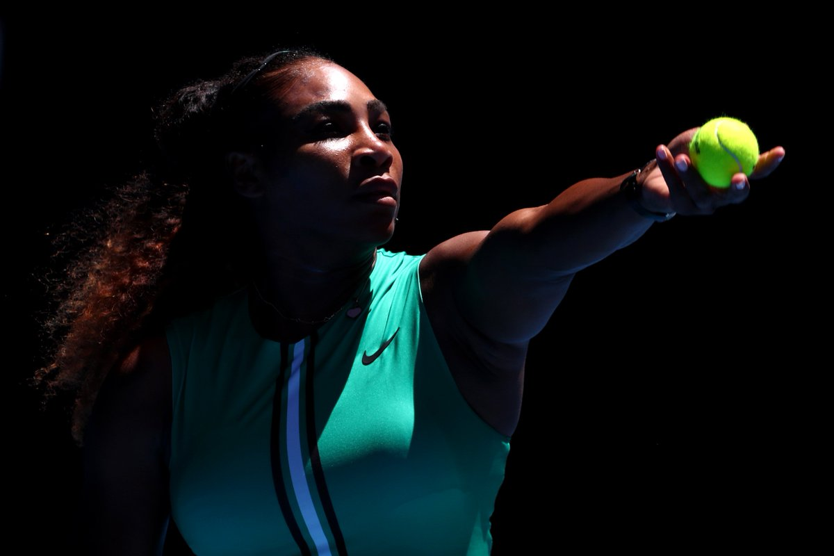 Set 1 to the Queen 6-2 over Yastremska. @serenawilliams playing like a woman on a mission. #AusOpen