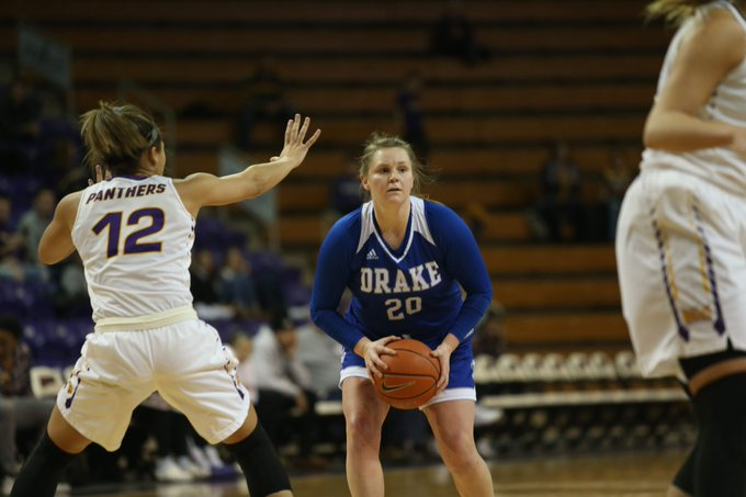 Drake women's basketball pulls away from UNI with dominant 4th quarter Photo