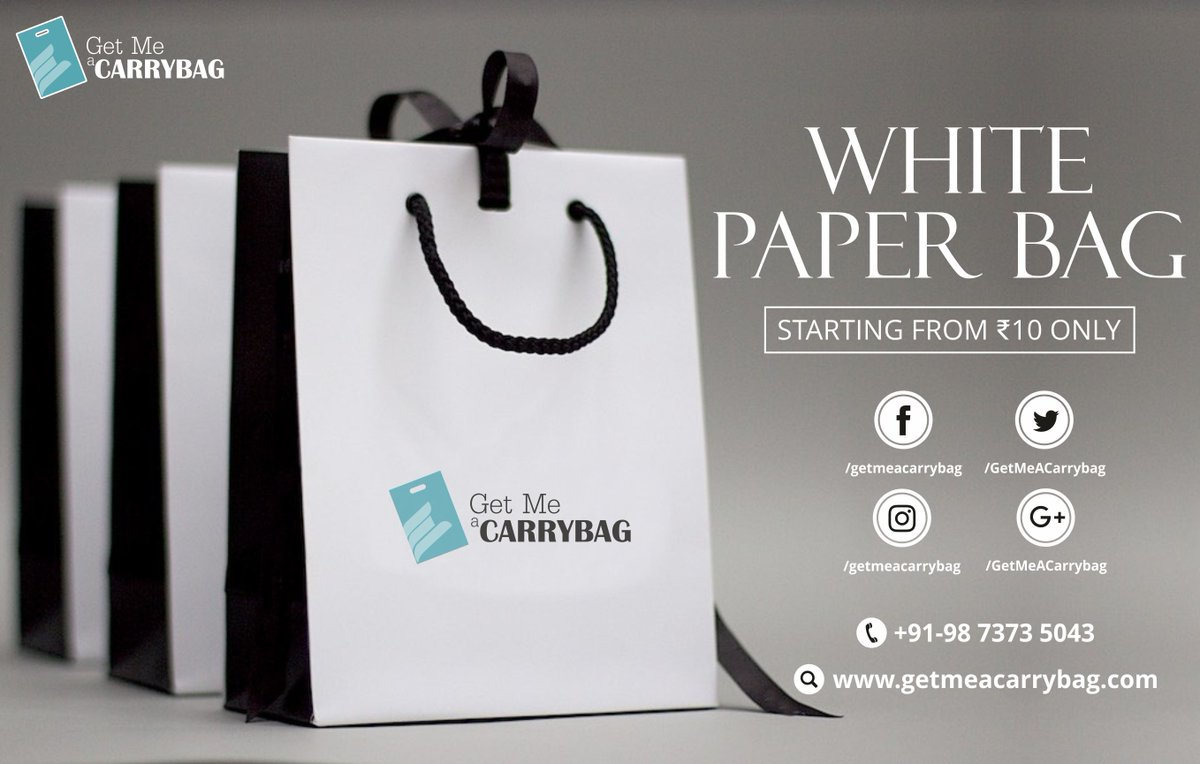 Getmeacarrybag On Twitter White Paper Bags Visit Https T Co Eechc9oul9 Call Or Whatsapp At 91 9873735043 Mail Us Info Getmeacarrybag Com Getmeacarrybag Colour Print Customized Design Gussetbag Paper Carry Bag Kraftpaperbag Https T Co