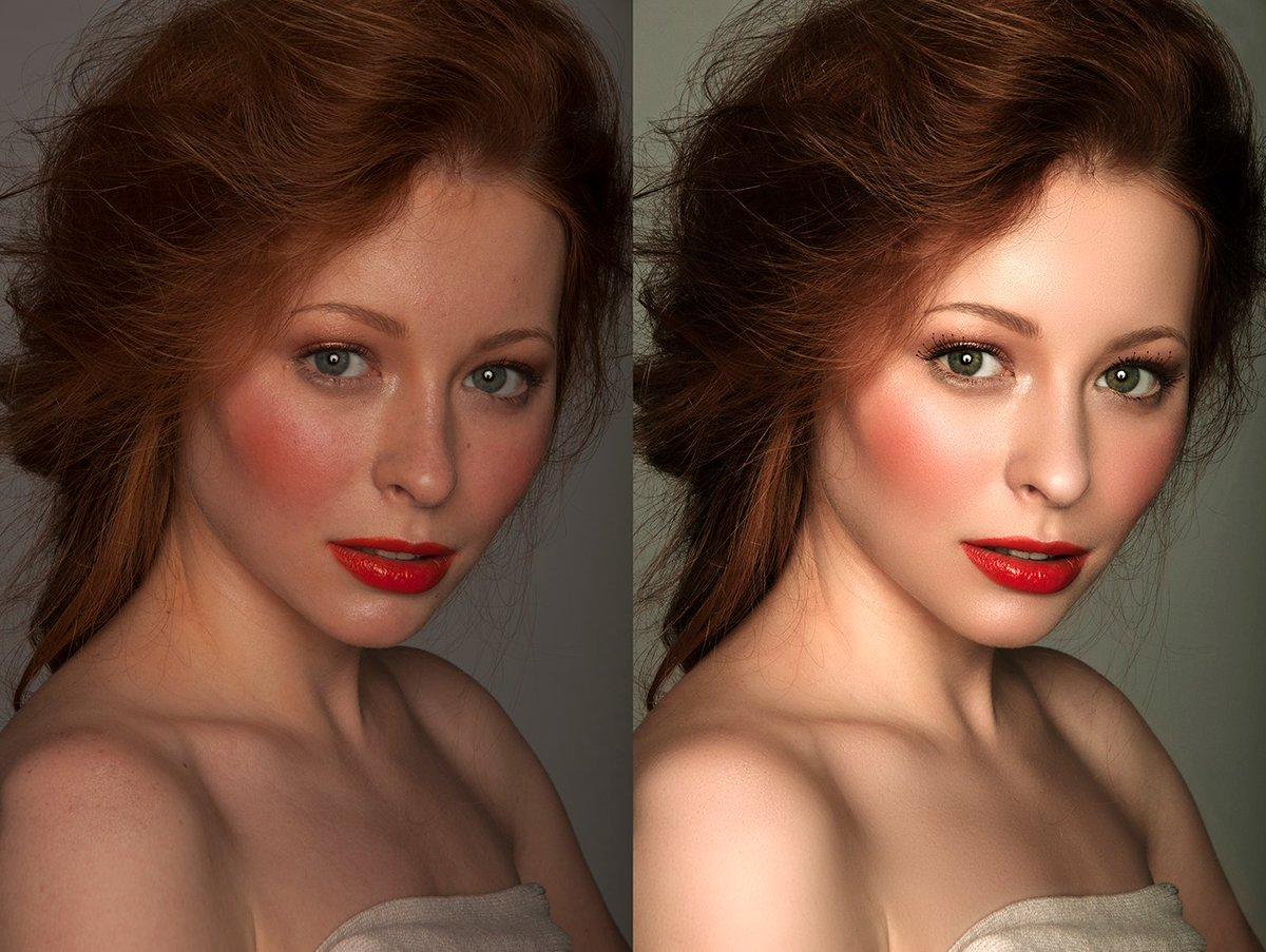 Обработка фото цвет волос нарезка галерея
