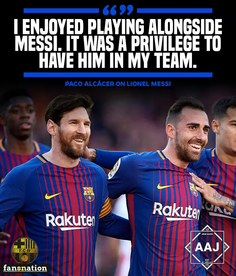 @paco93alcacer on #messi... 🔥🔥