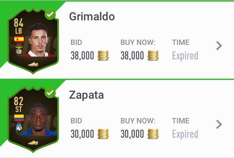 Bought at 17500 and 12,750. Over 50 still on the market 🤑🤑🤮  #TOTW #FUT19 #FIFA19