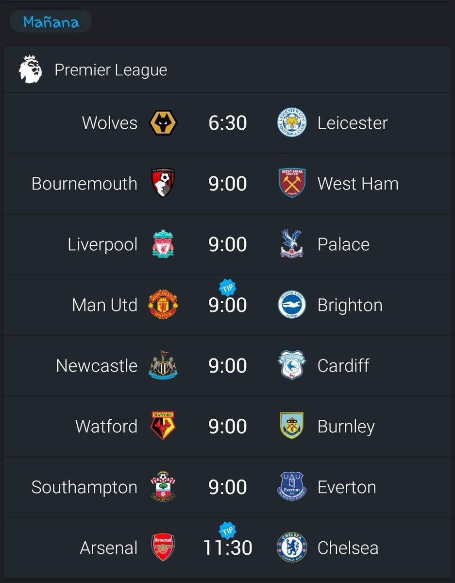 Mañana arranca la fecha 23, Premier League , temporada 2018-2019, aqui les dejamos los partidos que se jugarán.  #DeportePicante #PremierLeague