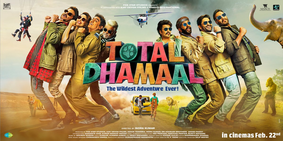 Get ready for the wildest adventure of the year! 🙌🏼 #TotalDhamaal trailer out in just 2 days! @ADFFilms @foxstarhindi @saregamaglobal