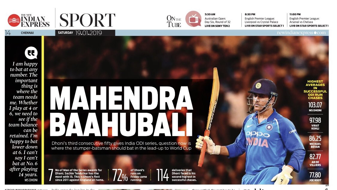 For Smart Headlines. For #Dhoni Fans. #Baahubali @NewIndianXpress https://t.co/c6Y49KTUWh
