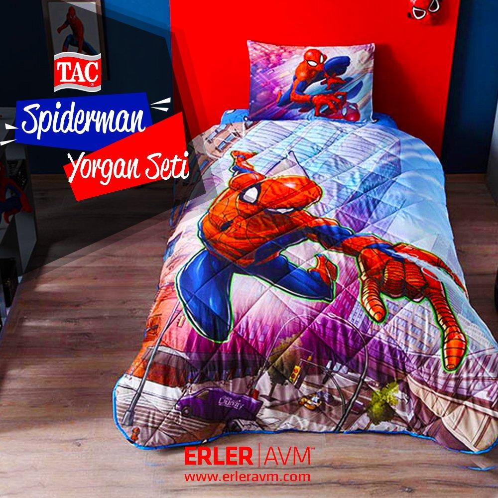 Çocuğunuz tatilin ilk gününü sıcacık yatağında dönemin yorgunluğunu atarak geçirsin... https://goo.gl/n45x81 #ErlerAVM #taç #nevresimtakımı #yorganseti #fırsat #karacabey #kampanya #alışveriş #shopping #hepsiburada #n11 #spiderman