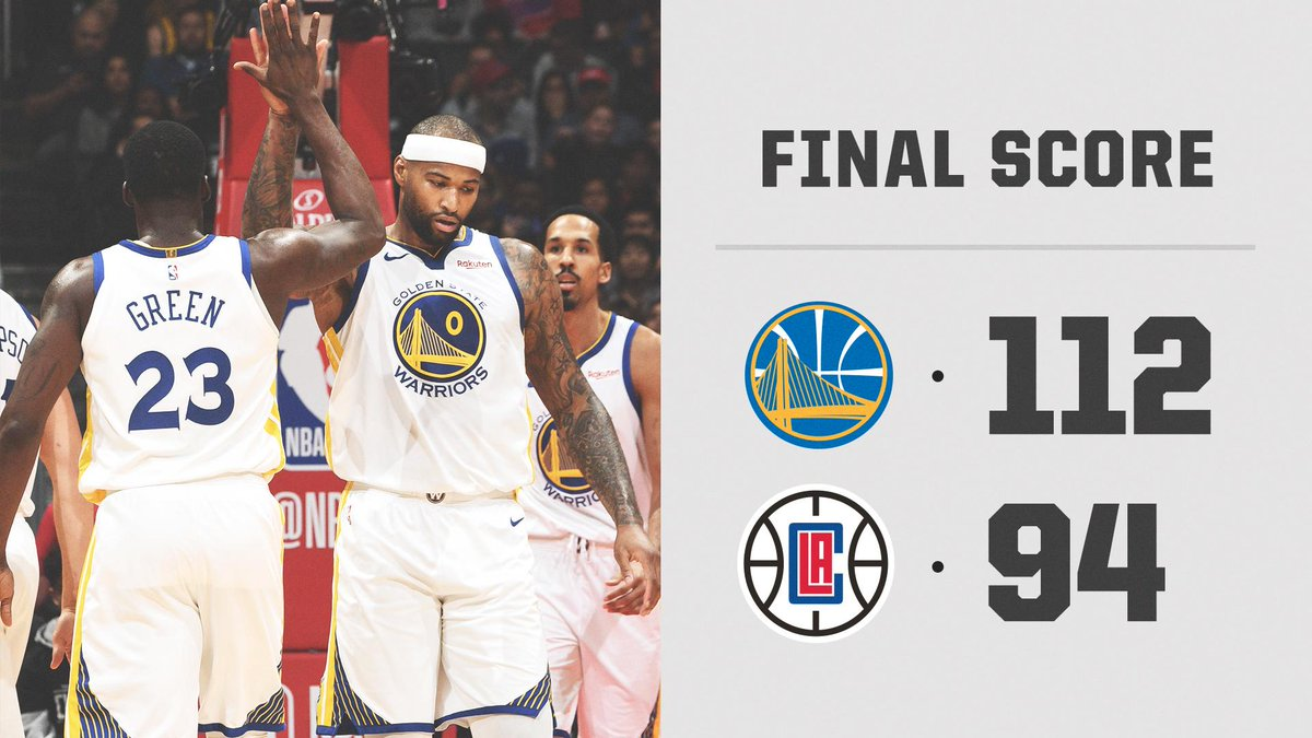 Golden State dominates in Boogie's first game as a Warrior.