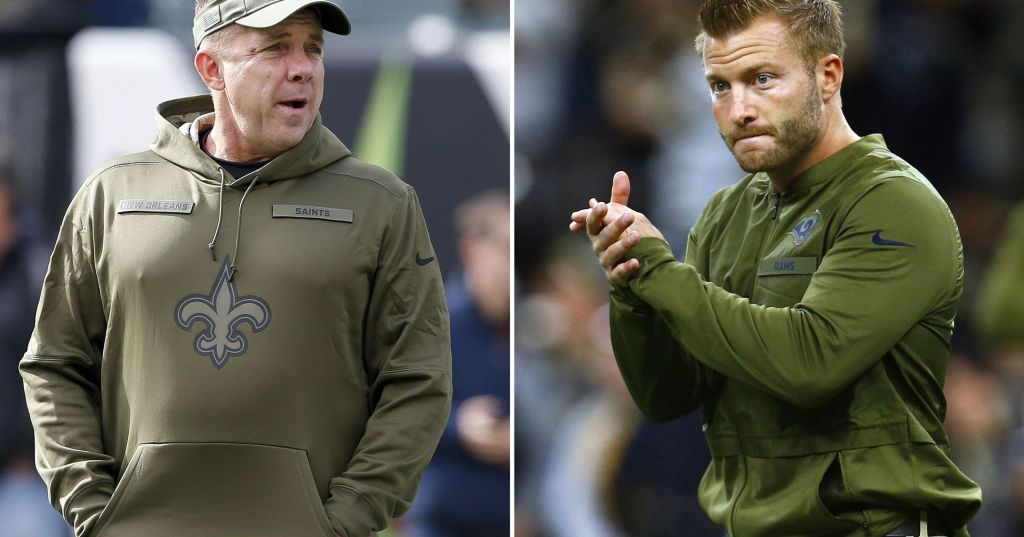 Sean Payton and Sean McVay to match brains andwits https://t.co/WLCExX6tPU https://t.co/EwfUB7FPEY