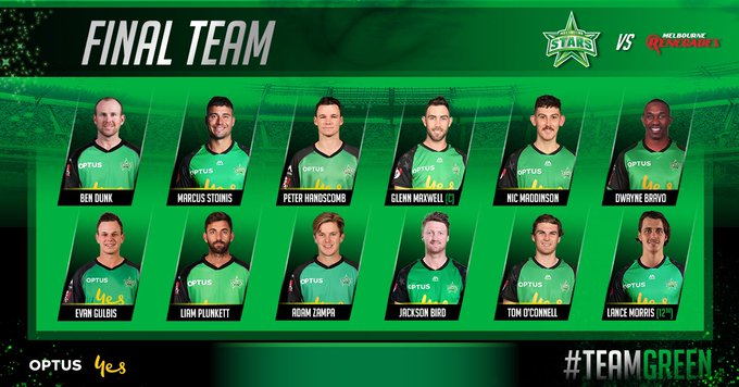 Our final XI for for tonight's return derby! Welcome back Maxi, Stoin, Zamps and Pete 💚💚 #TeamGreen Foto