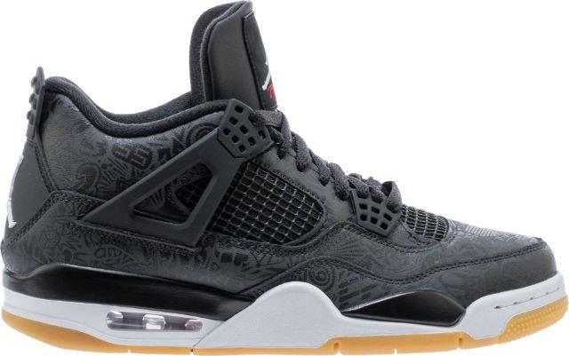f2f1cfb9ecd8 new air jordan retro 4 se laser black gum mens lifestyle shoe black white  gum light