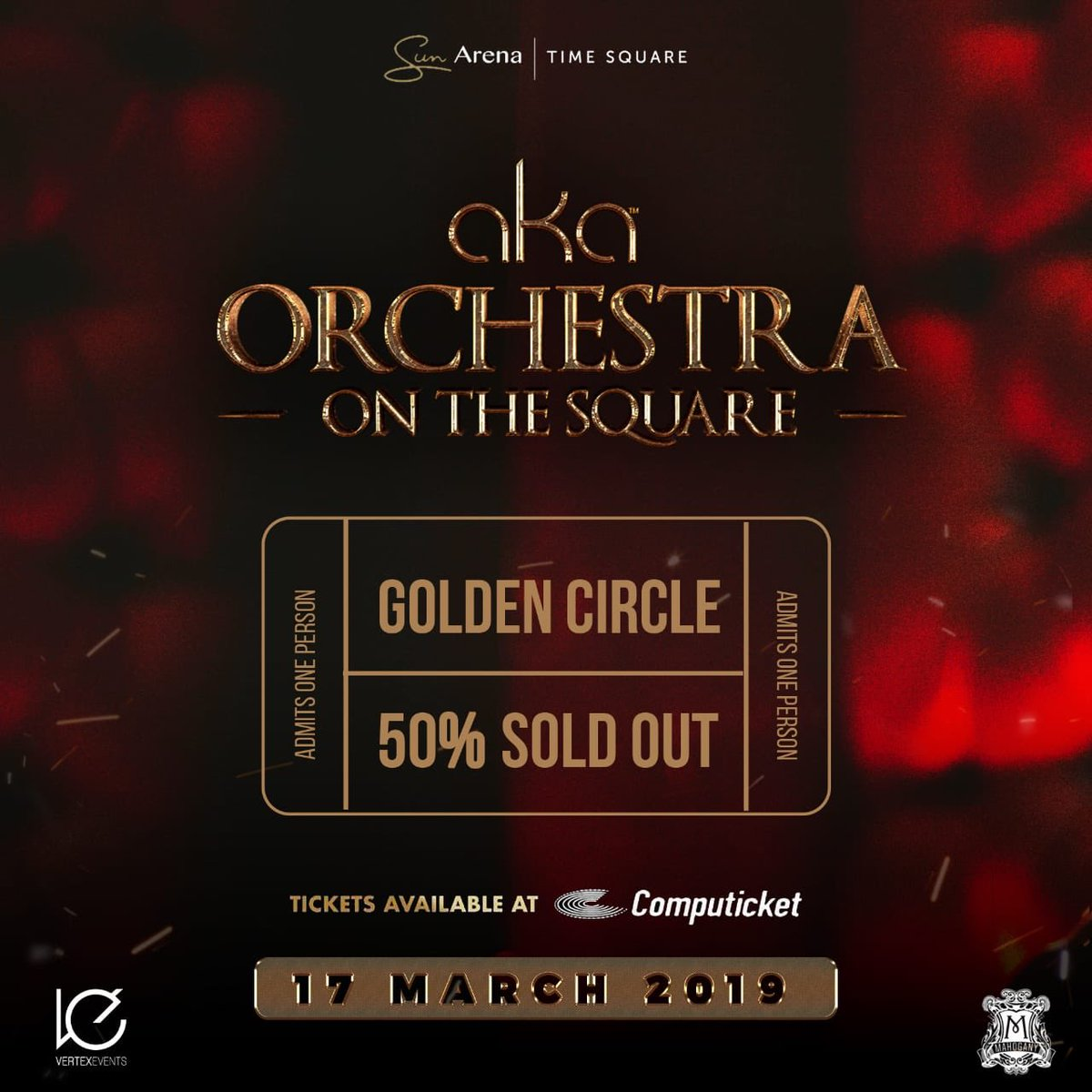 Golden Circle for #AkaOrchestraOnTheSquare 50% sold out. Don't sleep. Tickets available at @Computicket 🎟