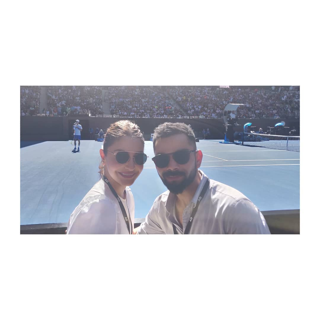 Beautiful sunny day at tennis with this beautiful sunny boy ❤️ #AustralianOpen #ausopen