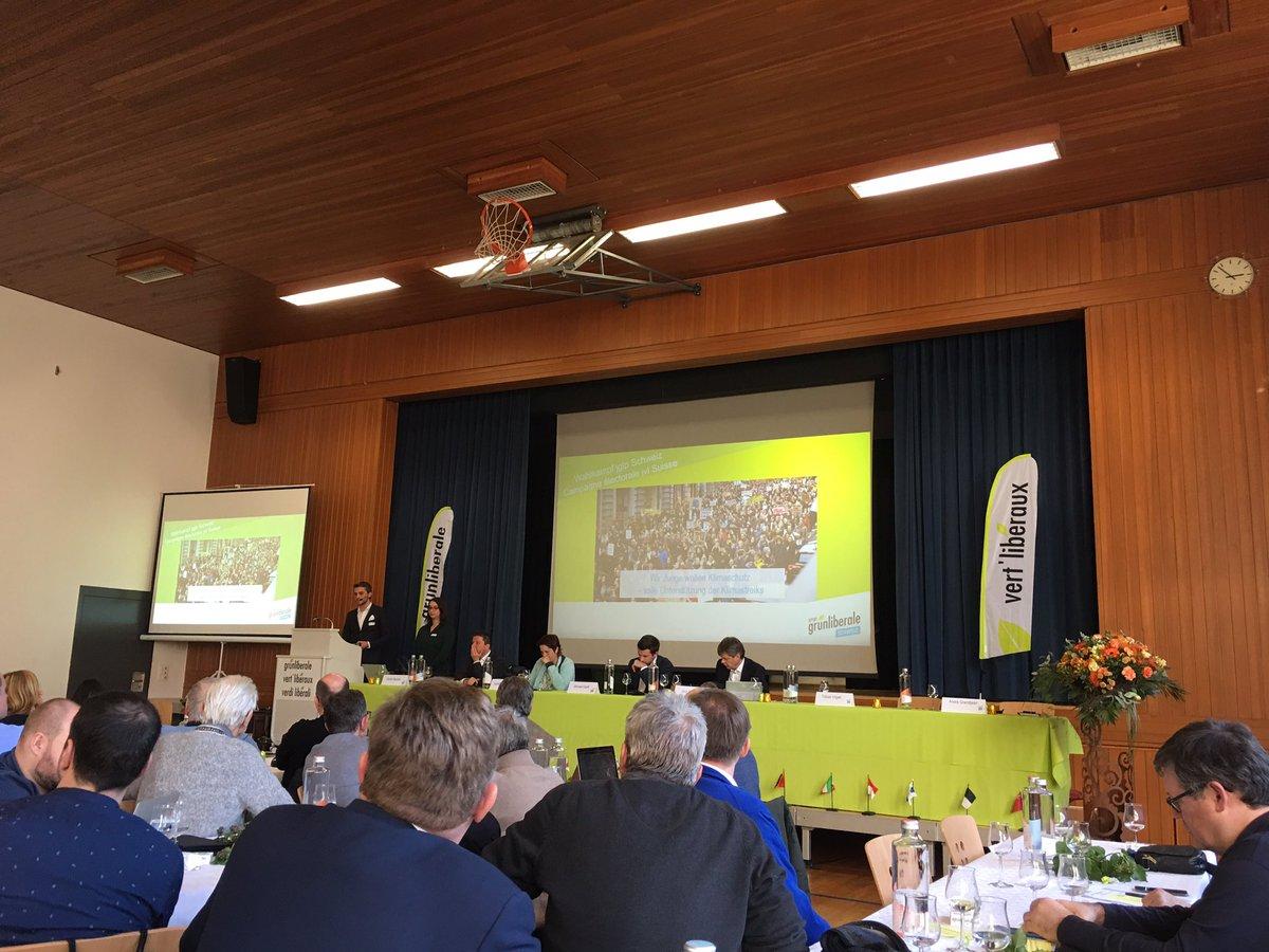 Hohe Ziele der @jglpCH für das Wahljahr vorgestellt an der #DVglpCH. Die Resultate aus Luzern - aus dem Stand zur stärksten Jungpartei - und das aktuelle Engagement von Jungen beim Klimastreik stimmen zuversichtlich! 💪