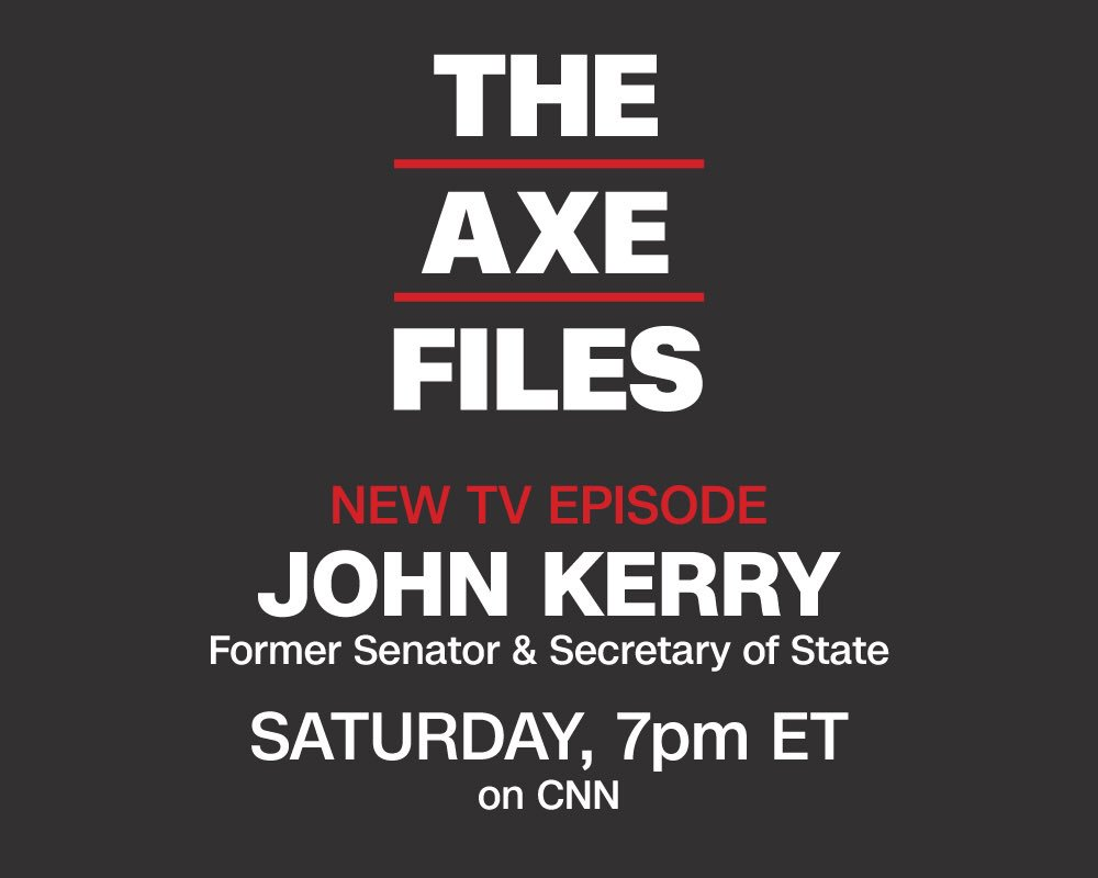 ".@JohnKerry on @realDonaldTrump and the Russians: ""He has some special relationship with them that he has not made public and I think he's fearful that President Putin probably has information (on him.)"" #AxeFiles on @CNN Join us TONIGHT at 7 PM"