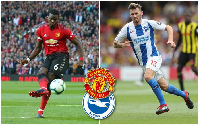 Man utd - Brighton   Predict the score line, player to score &  Man utd player to be carded(optional)  RT , FOLLOW AND USE #WEEKEND25KGIVEAWAY
