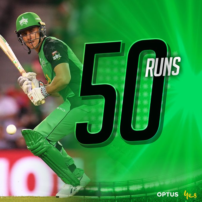 FIFTY! Stoiny brings up his half century off 50 balls, including five fours! We are 3-81 after 14 overs! #TeamGreen Foto