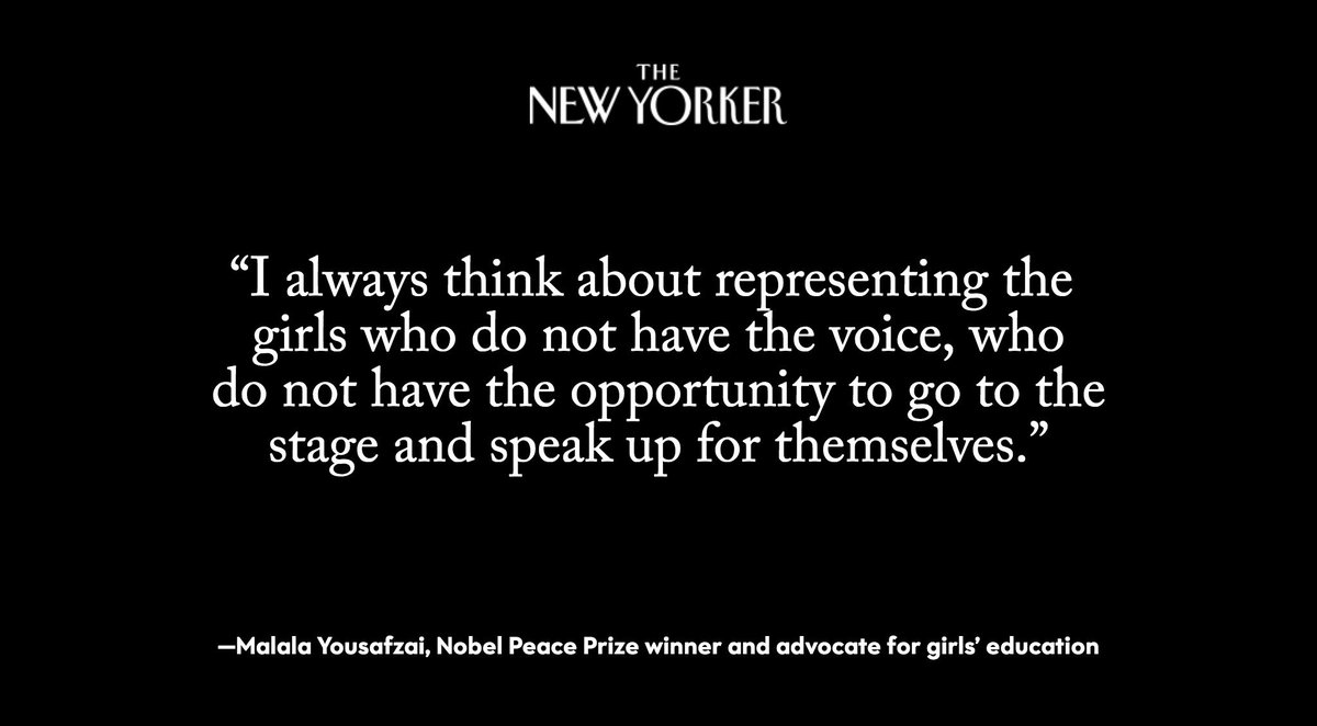 .@Malala Yousafzai says that when she meets with Presidents and Prime Ministers, or other people in positions of power, her goal is always to speak the truth: http://nyer.cm/Iq9GIep