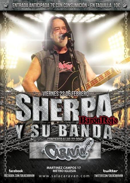 El próximo viernes 22 de Febrero #Sherpa  y su banda estarán actuando en la @salacaravan Back to the 80´s de Madrid. http://metaltrip.com/sherpa-en-madrid-el-22-de-febrero/… #Sherpa #Metaltrp
