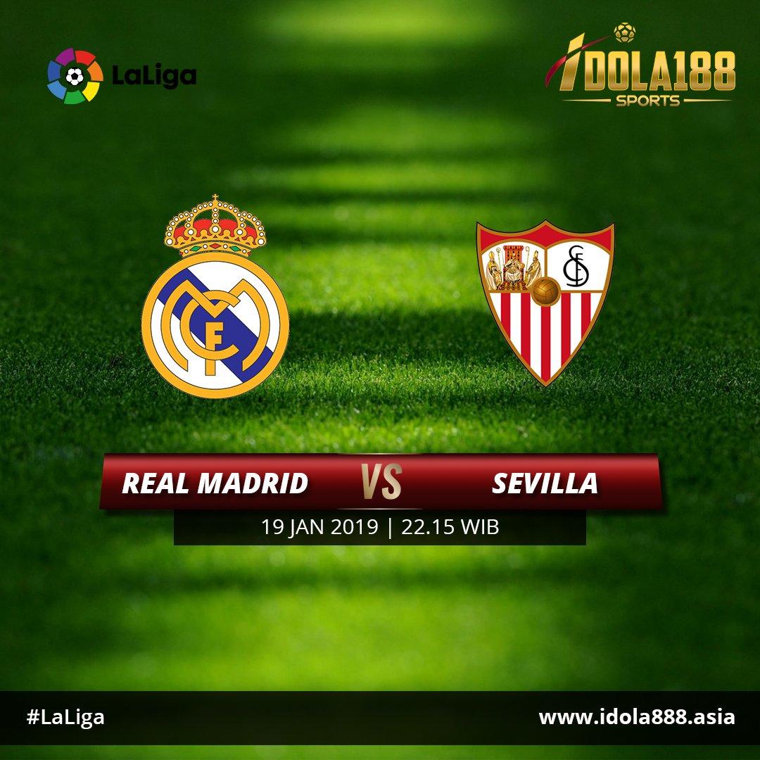 Spanish La Liga Real Madrid vs Sevilla, 19 Jan 2019 22.15 WIB Hdp : -0.75 Real Madrid OU : 3  Join now : www idola888 asia WA : +855967642576 |BBM : E373D2A3 | Line : Idola188sports #ligaspanyol #laliga #idola188sports #bandarbola #judibola #judionline #taruhanonline #pasaranbola