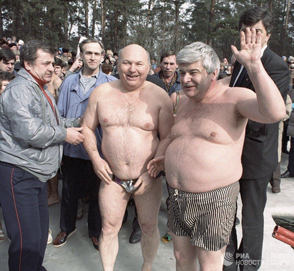 Два мэра у крещенской проруби