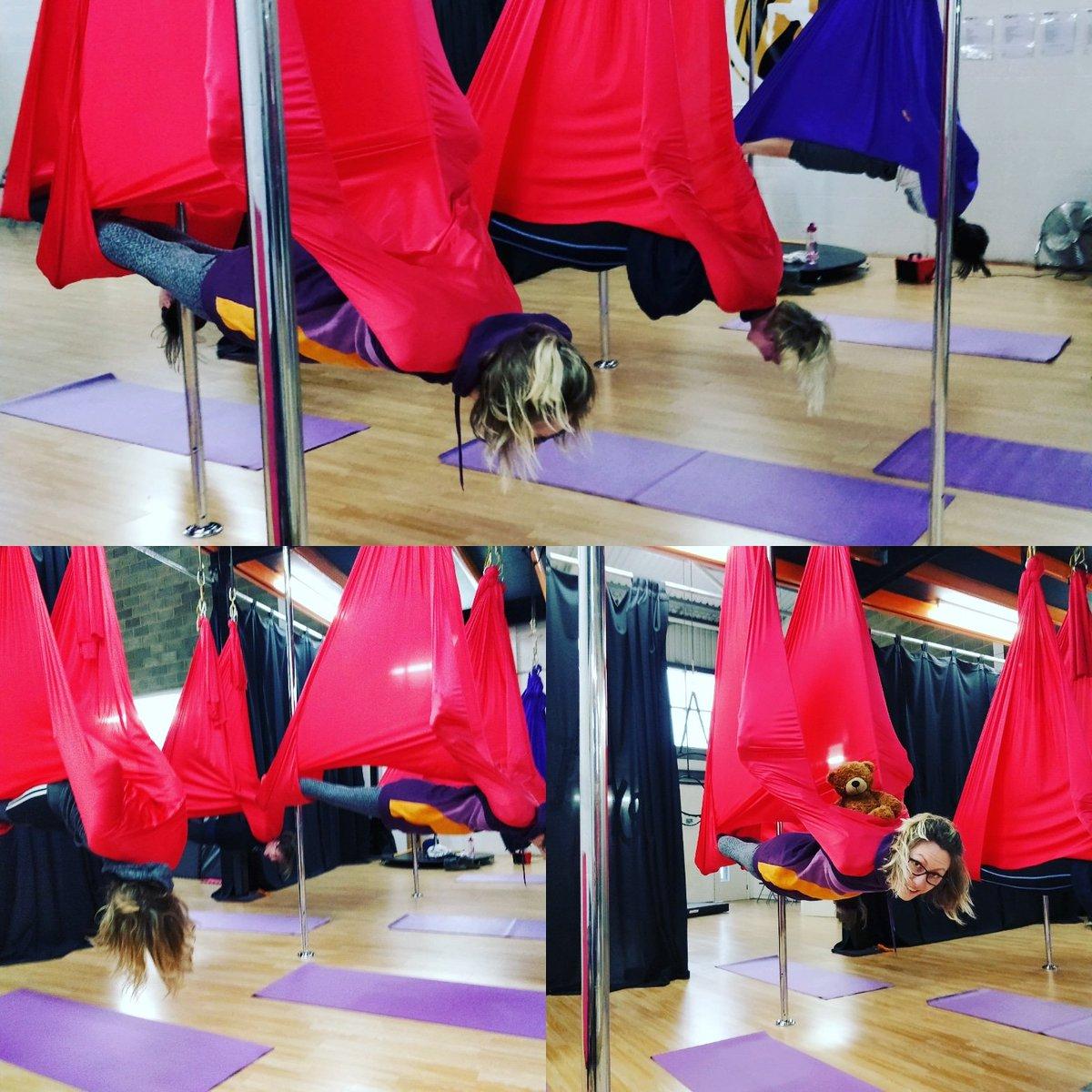 Phoenix Phitness On Twitter Vampire Stretch At Aerial Yoga Class