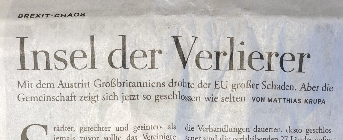 """""""Island of losers.""""  @DIEZEIT's verdict today on Britain's """"Brexit-Chaos""""."""