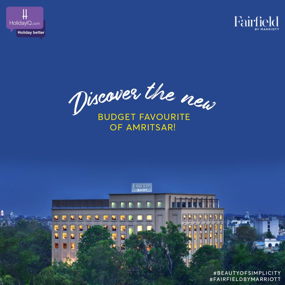 Experience Amritsar like never before with Fairfield by Marriott, Amritsar   Watch this space to know more and do share your thoughts in the comments section.  #BeautyOfSimplicity #FairfieldByMarriott #holidayiq #holidayiqcommunity https://t.co/WPD1nvqcrU