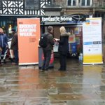 lots of interest in our Fantastic Home exhibition in Shrewsbury Square this morning, despite the damp conditions. Pop by this afternoon until 3, we've lots of freebies left! #besw19