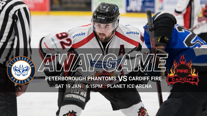 🔥 AWAY GAME DAY 🔥 We're on the road to Peterborough to take on the @nihl2phantoms. Face-off is at 6:15pm. Follow us on Twitter for live updates! #LetsGoFire Photo