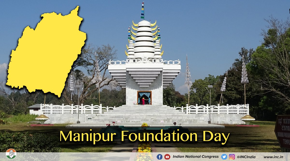 Warm greetings to the people of Manipur on the states' foundation day.