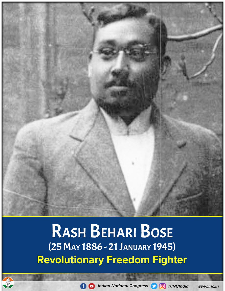 Rash Behari Bose was an Indian revolutionary leader against the British Raj and was one of the key organisers of the Ghadar Mutiny and later the Indian National Army.Rash Behari Bose handed over Indian National Army to Subhas Chandra Bose.