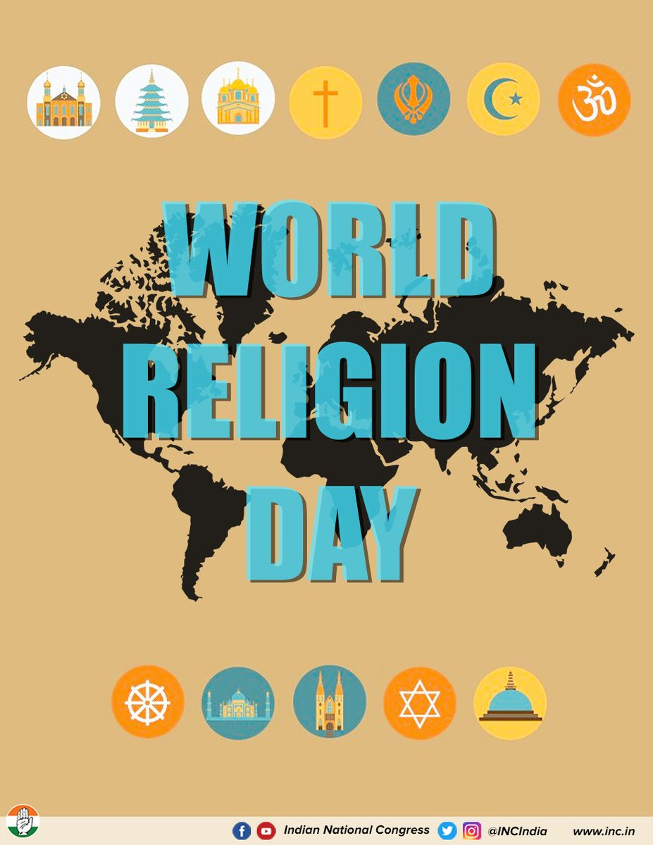 This World Religion Day, we recognise the values & teachings of all religions & urge all people to celebrate the diversity of each religion.