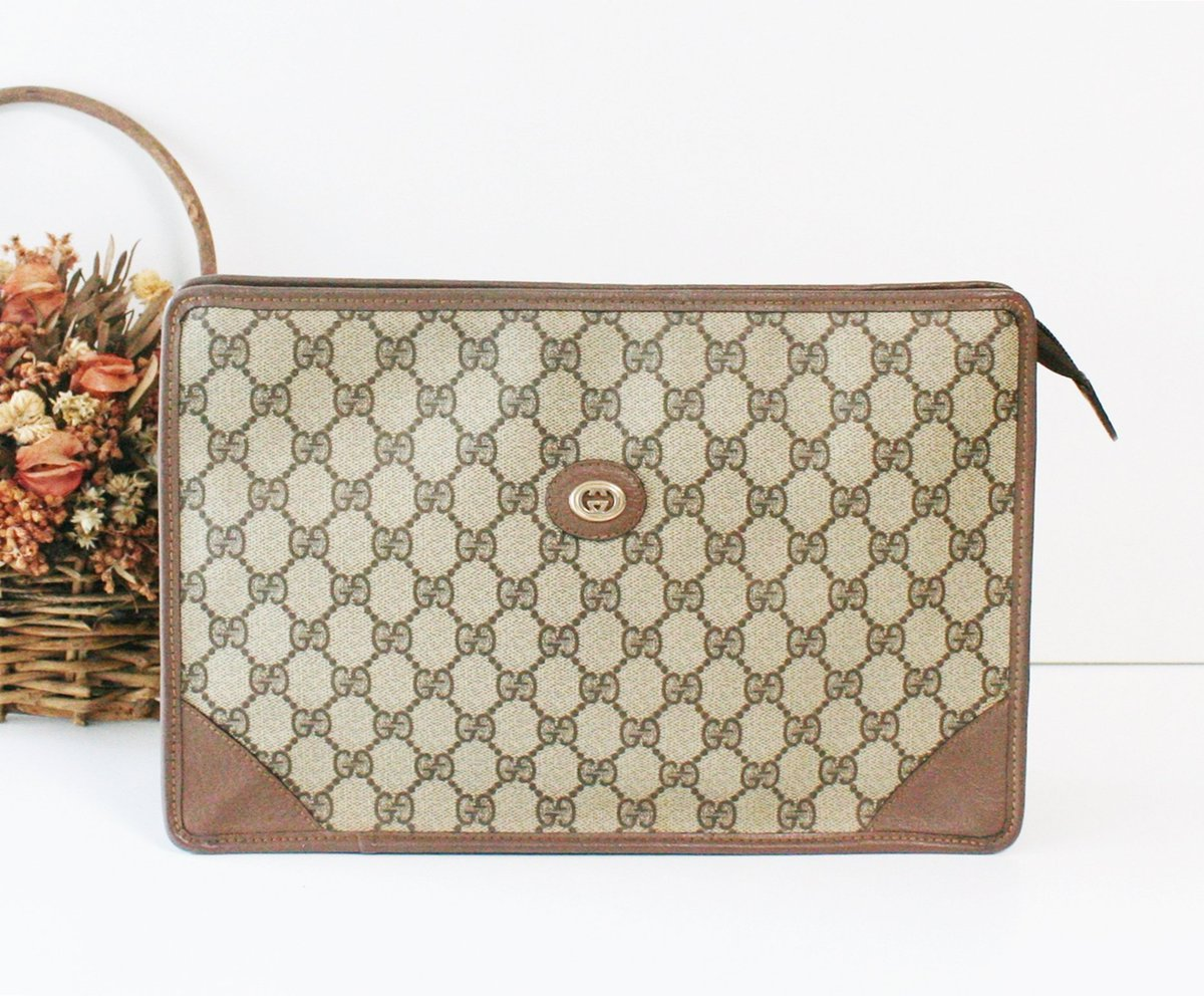 6d349d3cc74 Excited to share the latest addition to my  etsy shop  vintage GUCCI GG Web  clutch handbag authentic https   etsy.me 2FBTJYD  bagsandpurses  clutch   brown ...