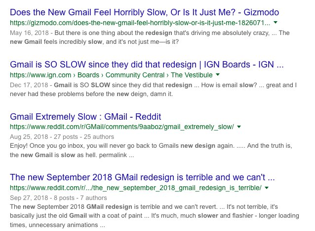 New gmail so slow