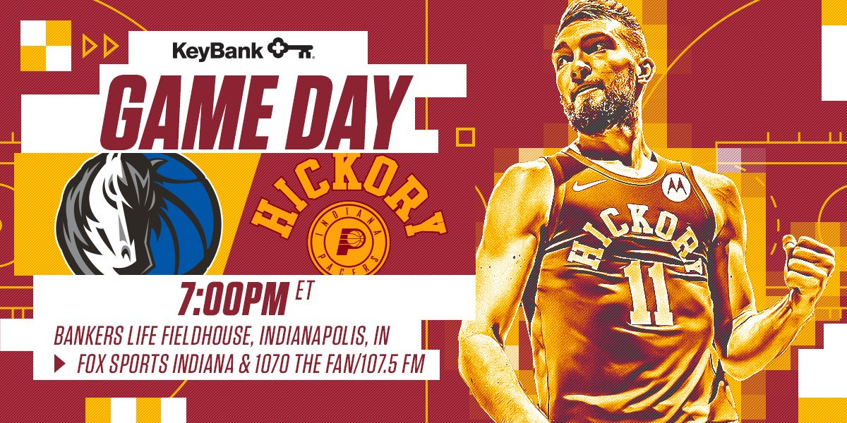 Not just your typical game day. It's a #HickoryPacers Night on #BasketballDayIndiana as we honor Slick Leonard!  🏀 Hickory Pacers vs. Mavericks 📍 @TheFieldhouse  🕖 7 p.m. ET 🎟 https://t.co/K2yPR2pZtX