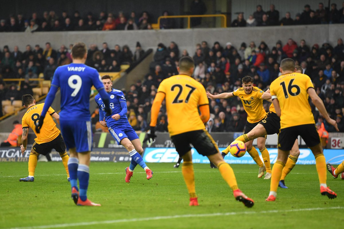 Leicester's second goal has been confirmed as a Conor Coady own goal  #WOLLEI