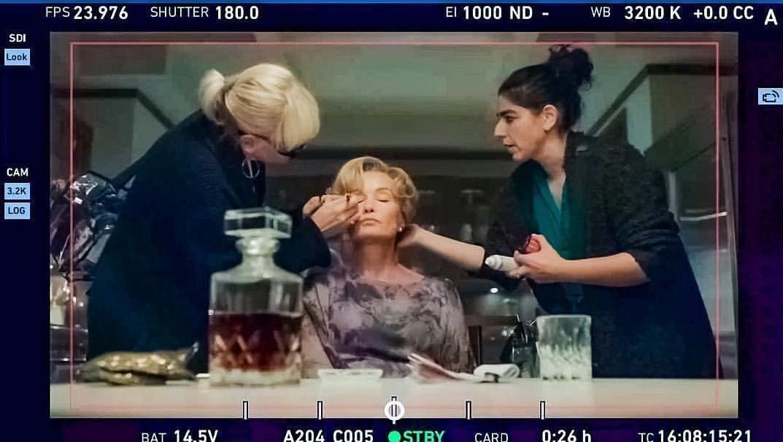 Jessica Lange sur le tournage de AHS Apocalypse ! #JessicaLange #throwback #AHSApocalypse https://t.co/3lhSVZm2bQ