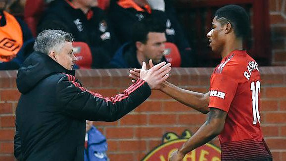 Watching the calmness and precision in Rashford's finishing nowadays, the influence of the former baby-faced assassin, Solskjaer, is obvious.   He has gradually moved from the 'anywhere-bele-face' striker to a clinical finisher.  #MUFC #MUNBHA #Rashford #ManchesterUnited #ManUtd