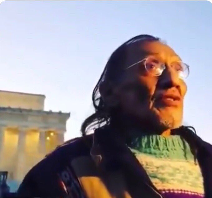 His name is #NathanPhillips of the Omaha Nation.