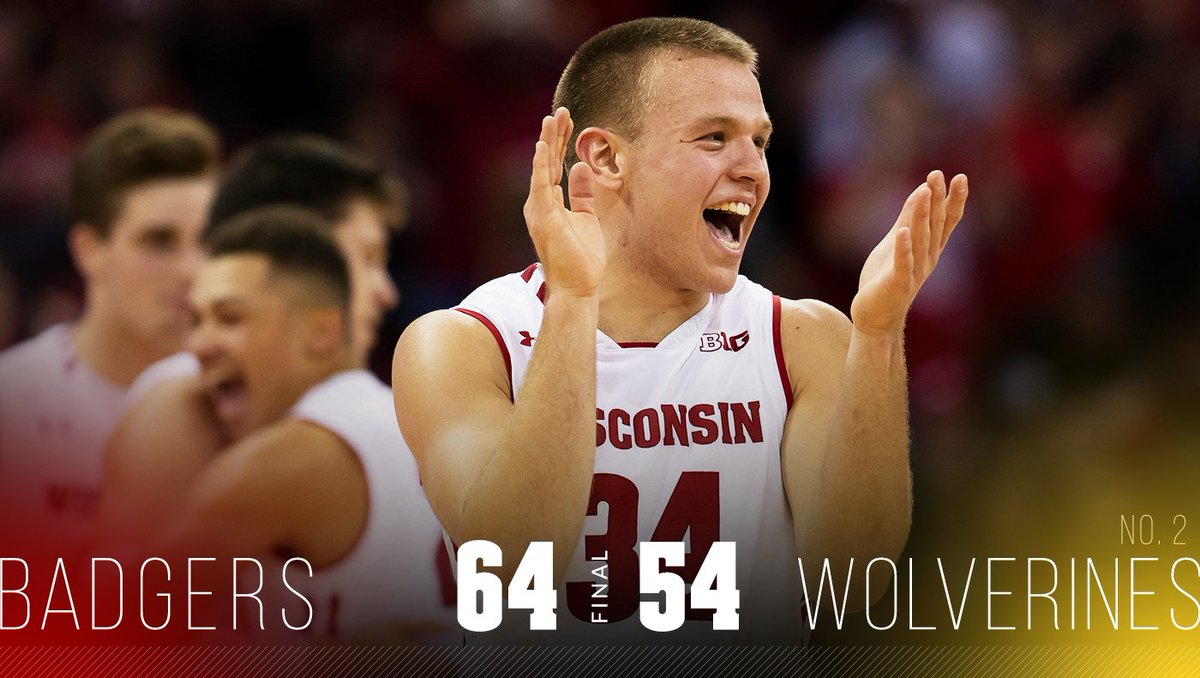 IT'S A MADHOUSE IN MADISON!  Wisconsin takes down No. 2 Michigan!  #OnWisconsin // #Badgers
