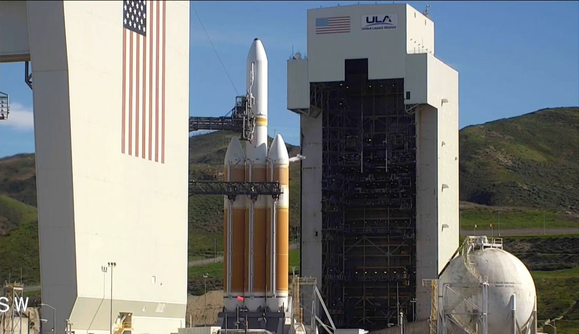 "The final pre-launch poll of the ULA team has been completed, and all stations gave a ""go"" for liftoff of the Delta 4-Heavy at 11:10am PST (2:10pm EST; 1910 GMT). Watch live: https://t.co/N4W1eM1mO7"