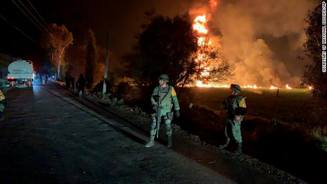 The death toll climbs to at least 66 people killed and 76 others injured after a ruptured gas pipeline exploded in the central Mexican town of Tlahuelilpan https://t.co/NP0aJqjT2S