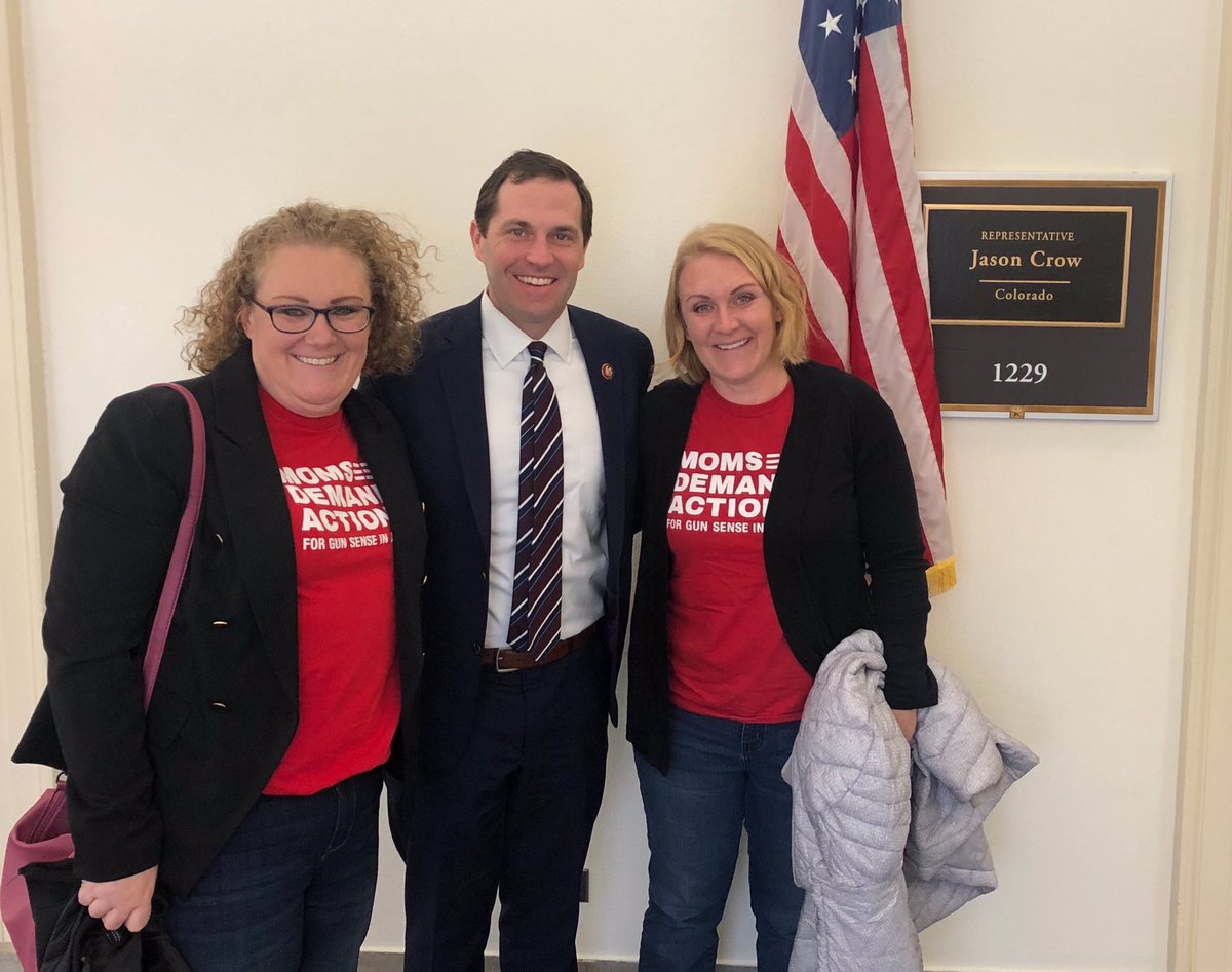 Great meeting with @MomsDemand this week as we continue the fight on Capitol Hill to pass #HR8 and expand backgrounds checks. Thank you for all you do!