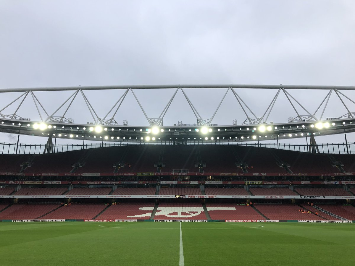 Good afternoon from the Emirates! 🏟 #ARSCHE
