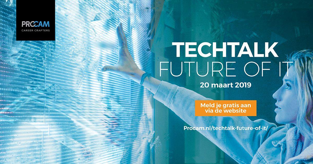 The Future is Here. Jouw vakgebied heeft de wereld op z'n kop gezet. Maar what's next?  Kom op 20 maart naar onze TechTalk: The Future of IT and find out! Speciaal voor studenten & young professionals. Zoals altijd gratis! Meld je nu aan op 👉https://buff.ly/2sBo3dw 👈 Be there!