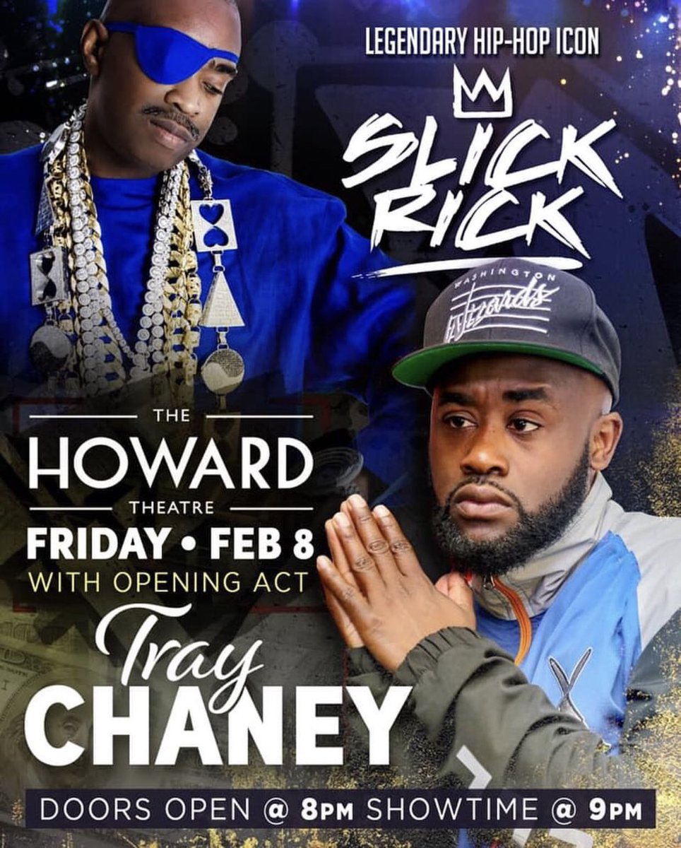 Y'all are in for an incredible show I'm opening for Slick Rick February 8 HOWARD THEATRE! Make sure you BUY YOUR TICKETS NOW! I'm Rehearsing as we speak #hiphop #rap #music #concert #venue #performance