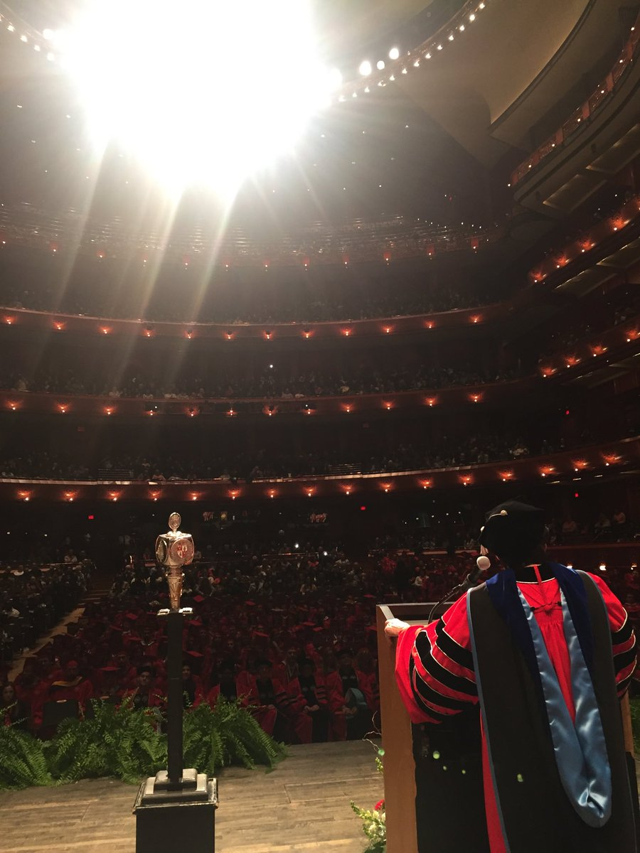 Thrilled to be joining the amazing @montclairstateu graduate students this morning in #Newark at NJ Performing Arts Ctr as they all prepare to leave here w/ doctorates or master's degrees!