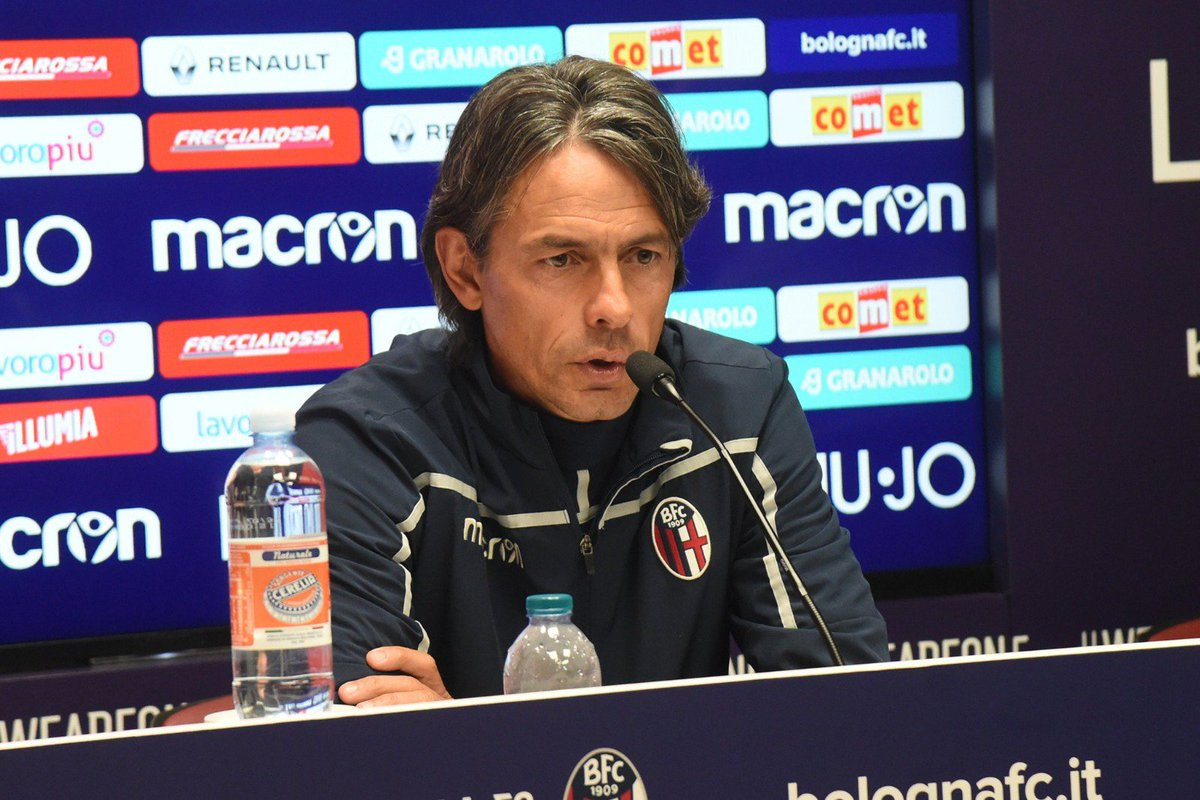 """#Inzaghi🎙: """"@NicolaSansone91's arrival means we will have more possibilities in attack. Talking about our formation doesn't interest me, I want to see the attitude of a mature side.""""  #SpalBologna #WeAreOne 🔴🔵"""