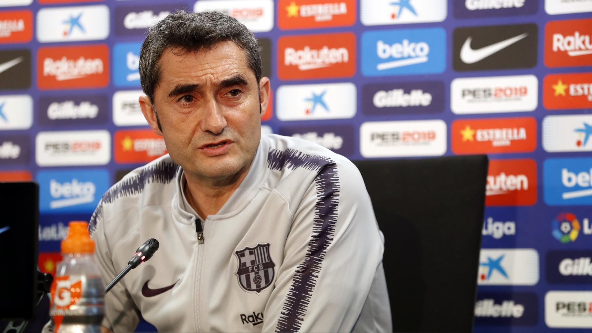 Valverde, en sala de prensa (Foto: FCB).