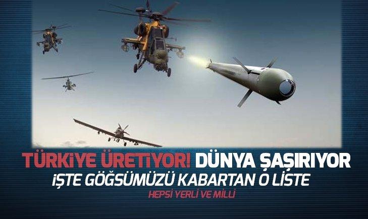 Türkiye üretiyor! Dünya şaşırıyor İşte göğsümüzü kabartan yerli ve milli silahlar... http://ow.ly/86eS30nnkNC